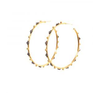 Large Crivelli Hoop Diamond Earrings
