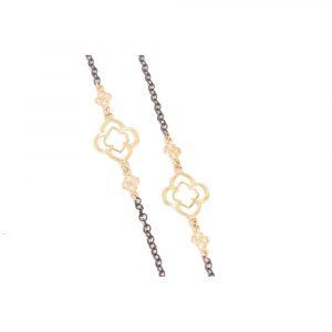 Large Scroll Station Diamond Necklace