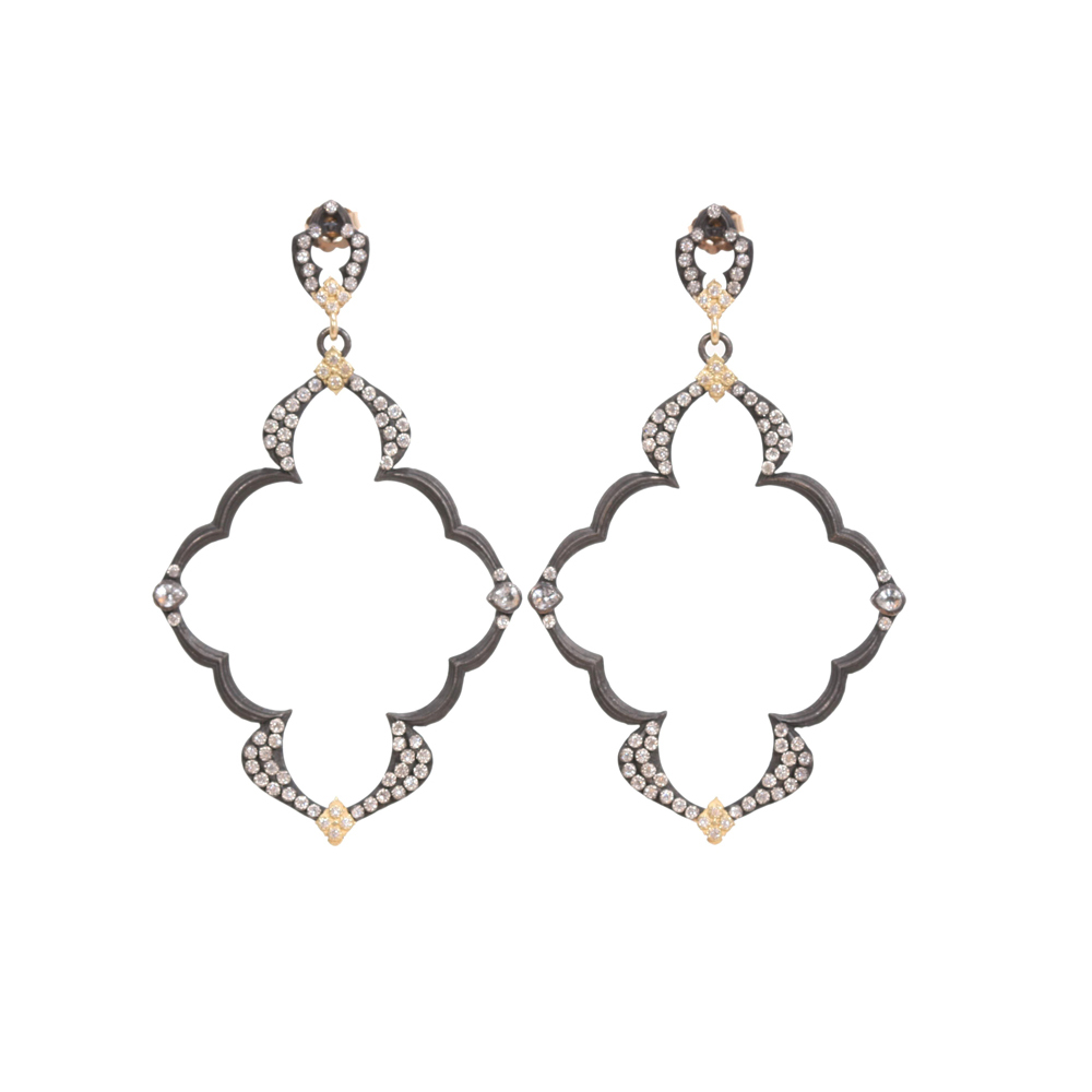 Dulcinea Open Wing Diamond Earrings