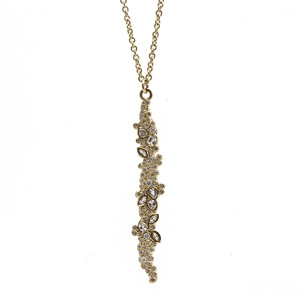 long cluster drop necklace