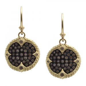 Armenta: Disc Diamond Earrings