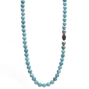 Magnesite Diamond Necklace