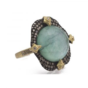 Emerald Round Ring