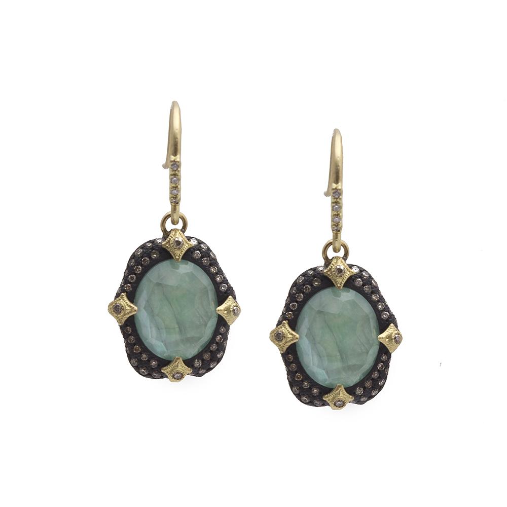 Emerald Oval Drop Earring