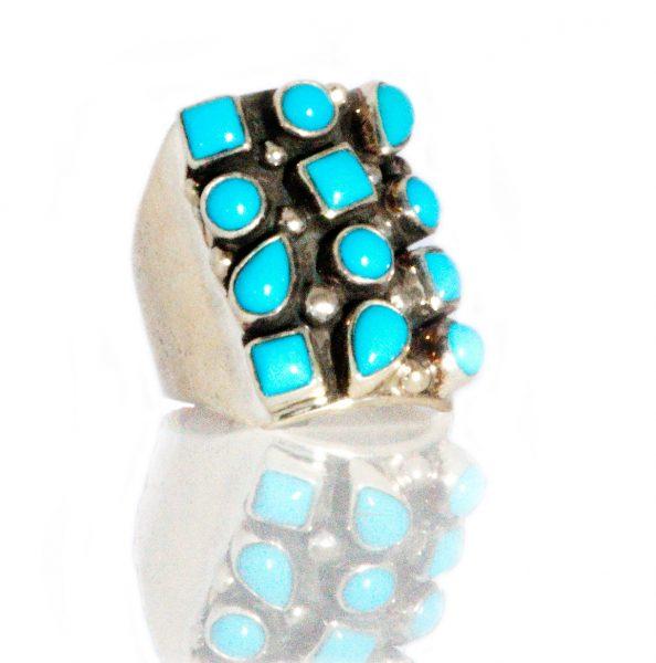 12 Stone Turquoise Ring