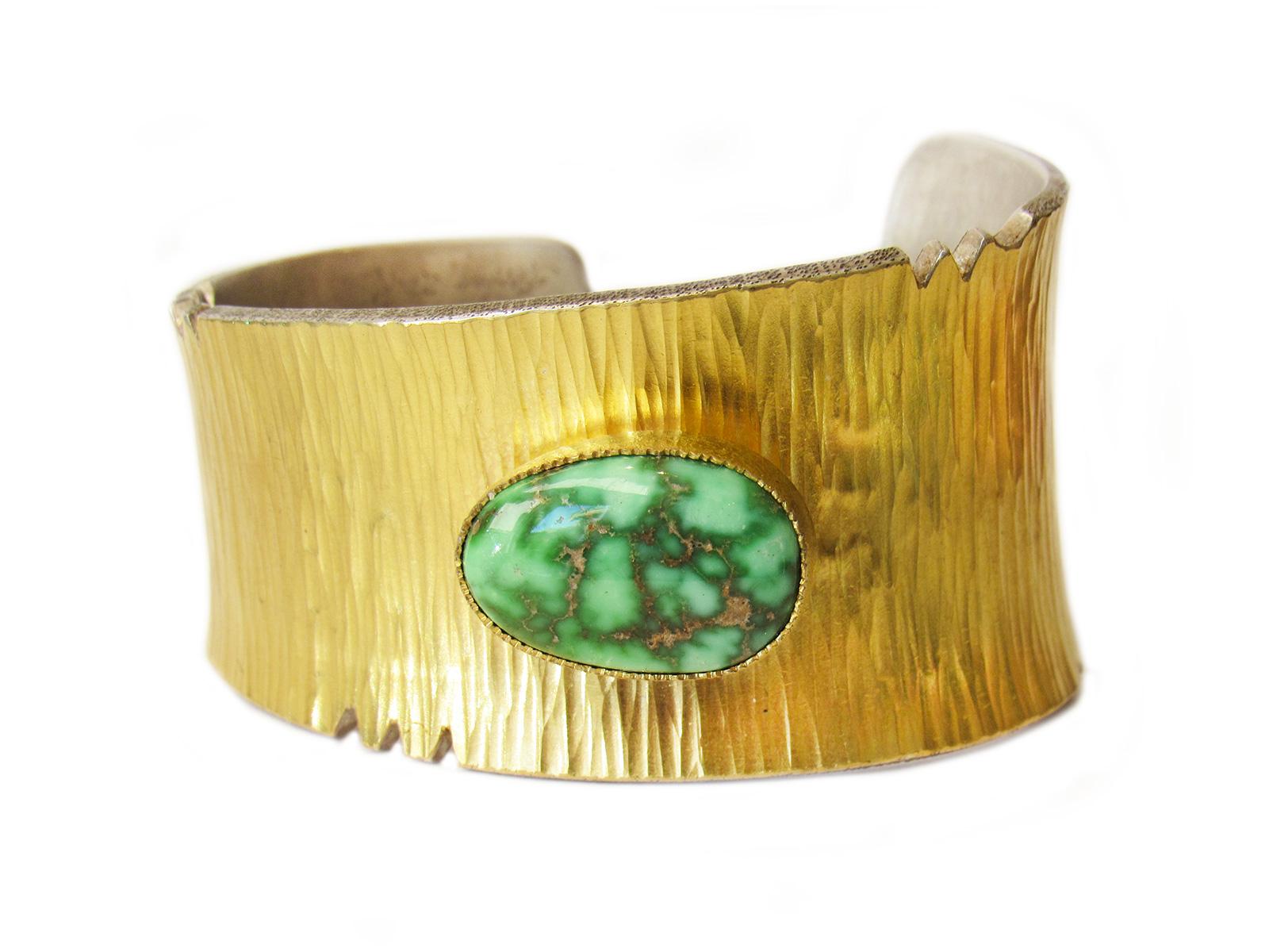 Textured Gold Cuff