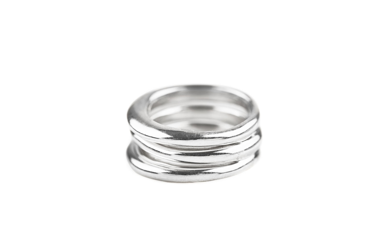 Sterling Silver 3 Stack Jane Ring