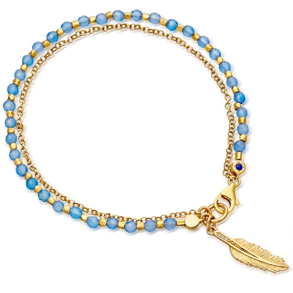 Blue Agate Friendship Bracelet
