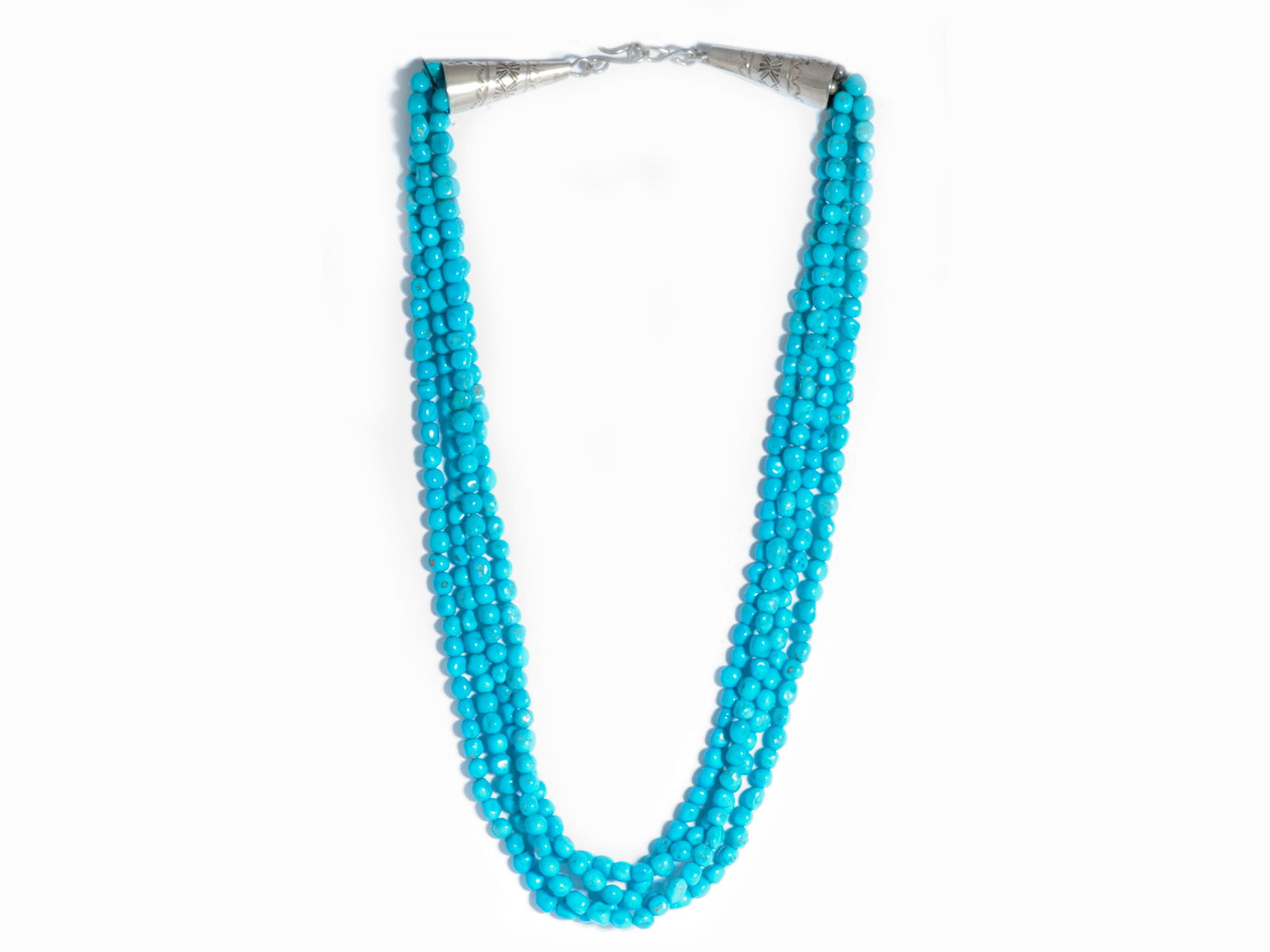 5 Strand Natural Sleeping Beauty Turquoise Bead Necklace