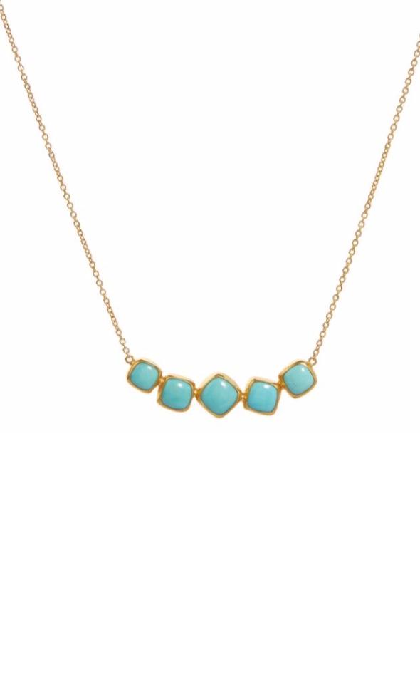 Amulet 5 Stone Turquoise Necklace