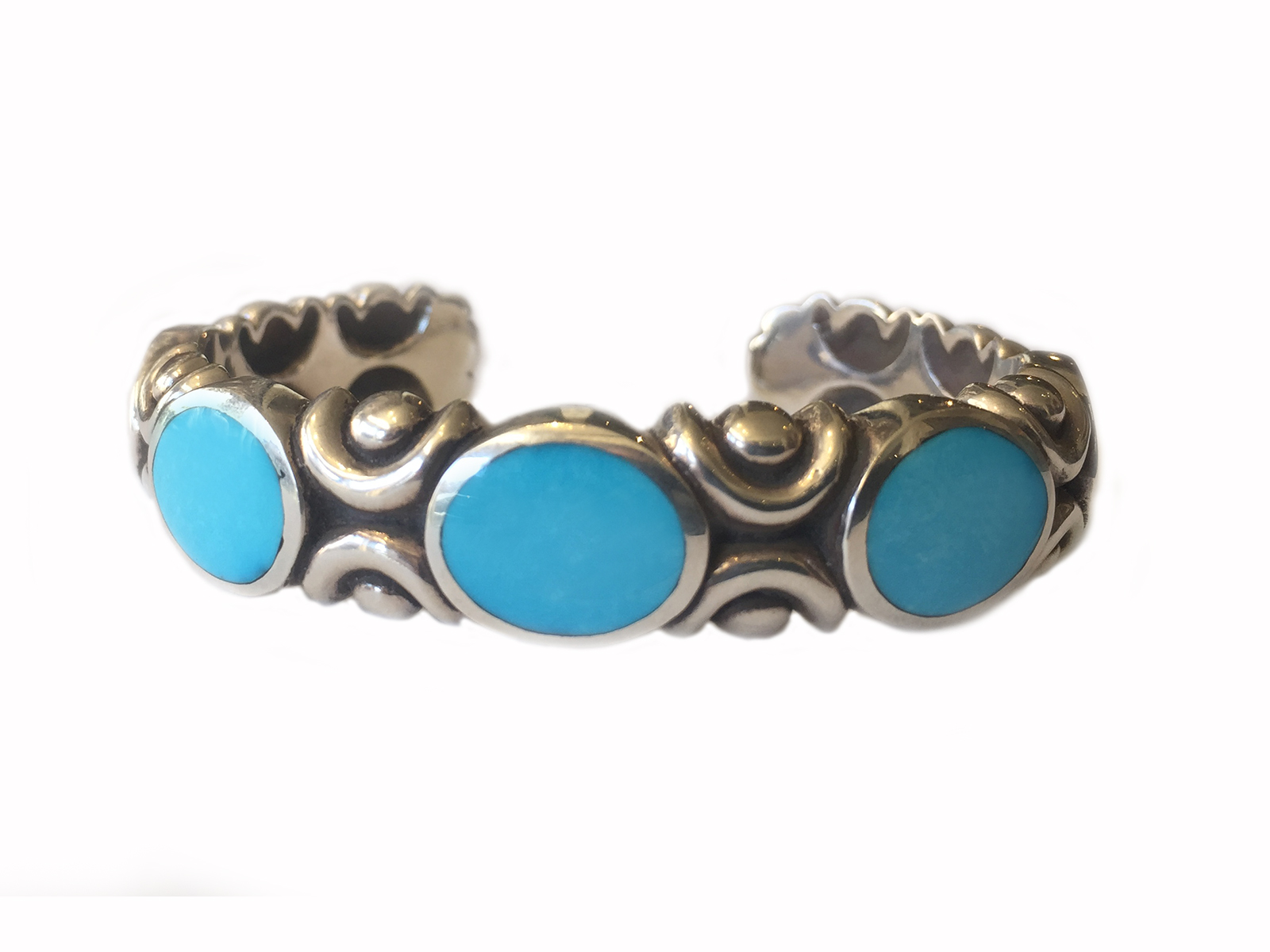 Natural Sleeping Beauty Turquoise Cuff