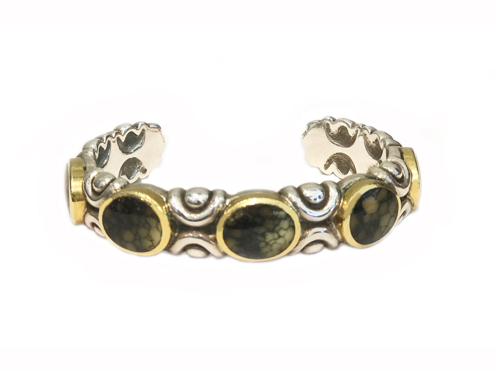 Damele Turquoise 5 Stone Cuff