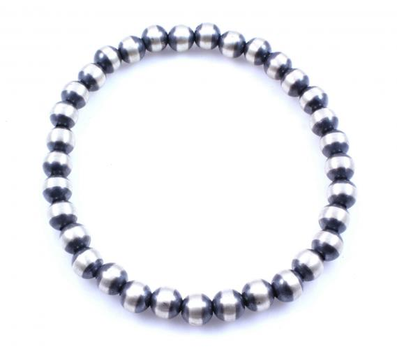 Sterling Silver 7MM Stretch Bracelet.