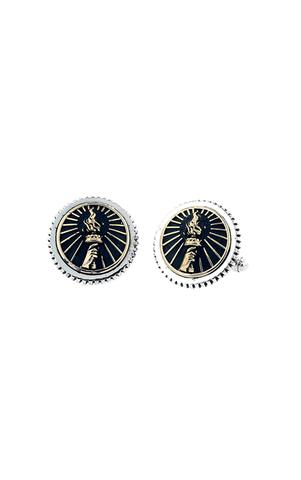 Torch Concho Cuff Links