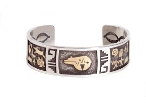 petroglyph cuff bracelet