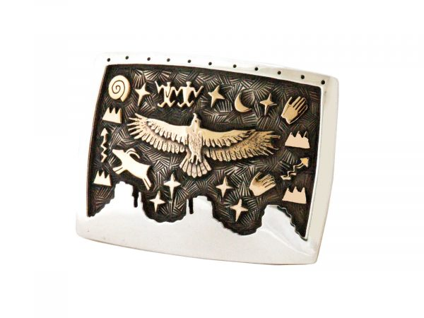 petroglyph belt buckle