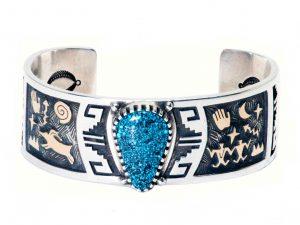 Kingman Turquoise Petroglyph Bracelet
