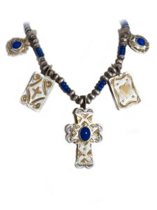 sterling silver lapis necklace