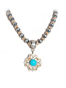 Sleeping Beauty Turquoise Star Pendant
