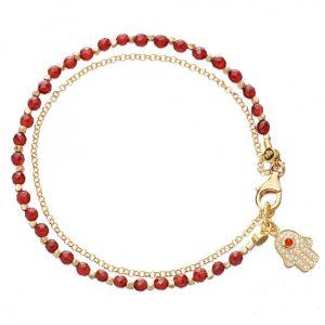 Red Agate Friendship Bracelet