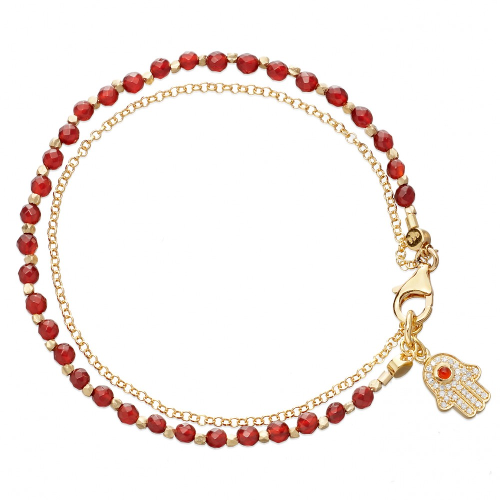 Red Agate Friendship Bracelet
