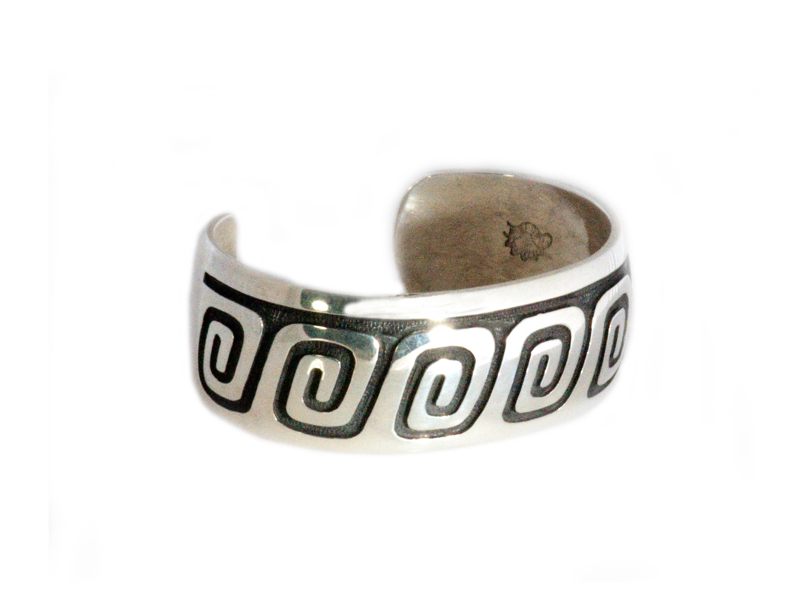 Water Wave Cuff handmade by Hopi artist Anderson Koinva