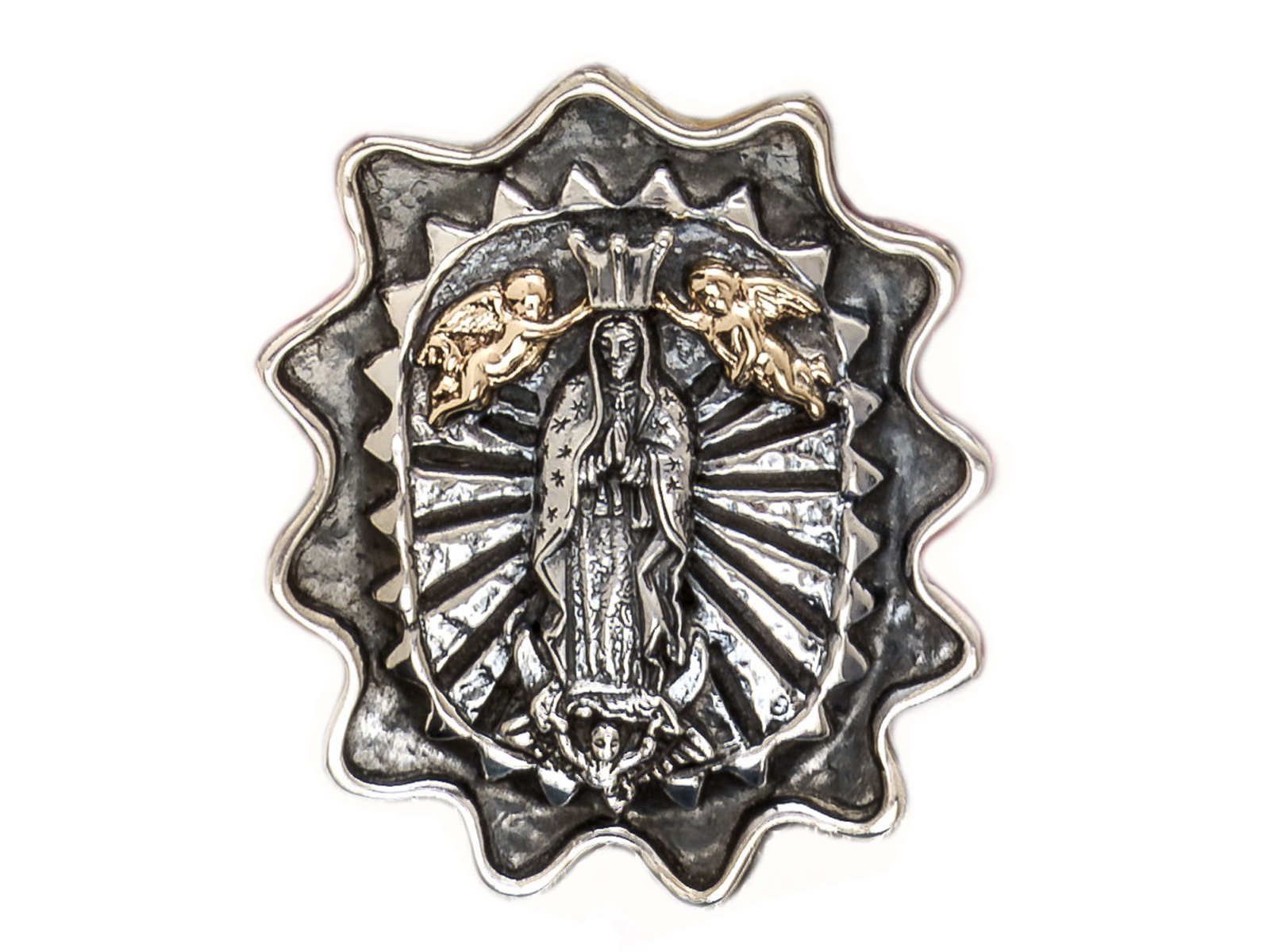 Angel and Virgin Pendant/Pin