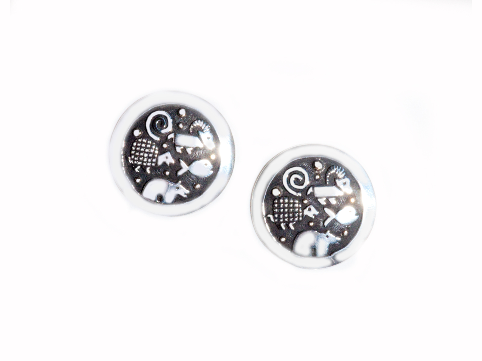 Silver Animal Post Earrings