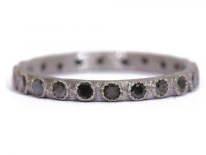 Small (.20cts) New World black diamond stack ring