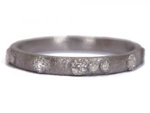 Small (.20cts) New World scattered white diamond stack ring