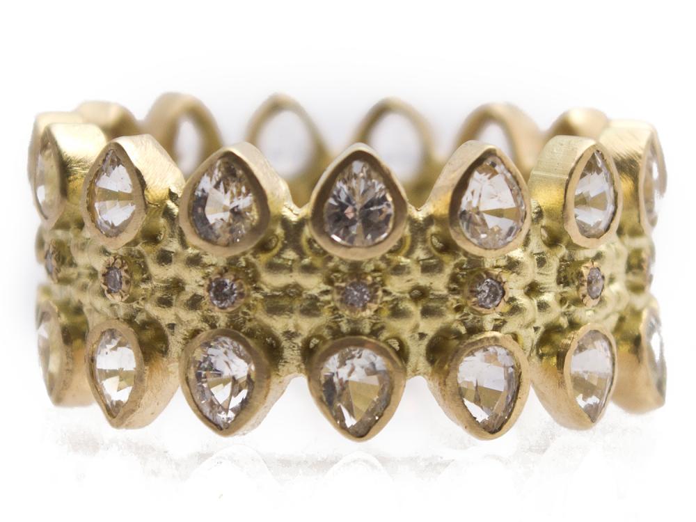 Multi Eternity Pear Sapphire Ring