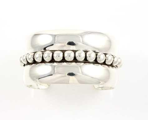 Sterling Silver Large Bead Cuff
