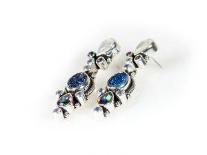 druzy moonstone earrings