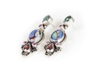 opal pink tourmaline earrings