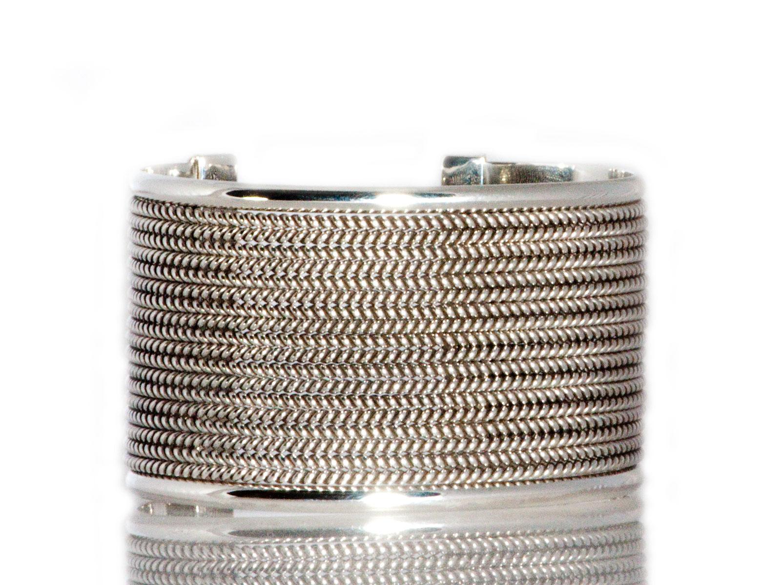 Silver Basket Weave Bracelet