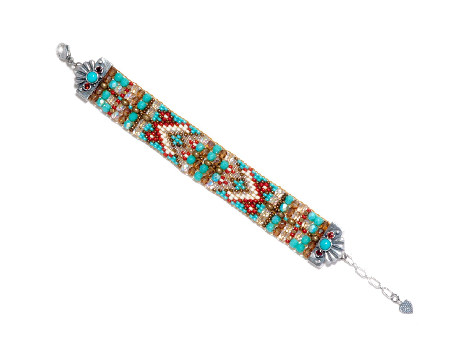 Turquoise Rug Pattern Bracelet