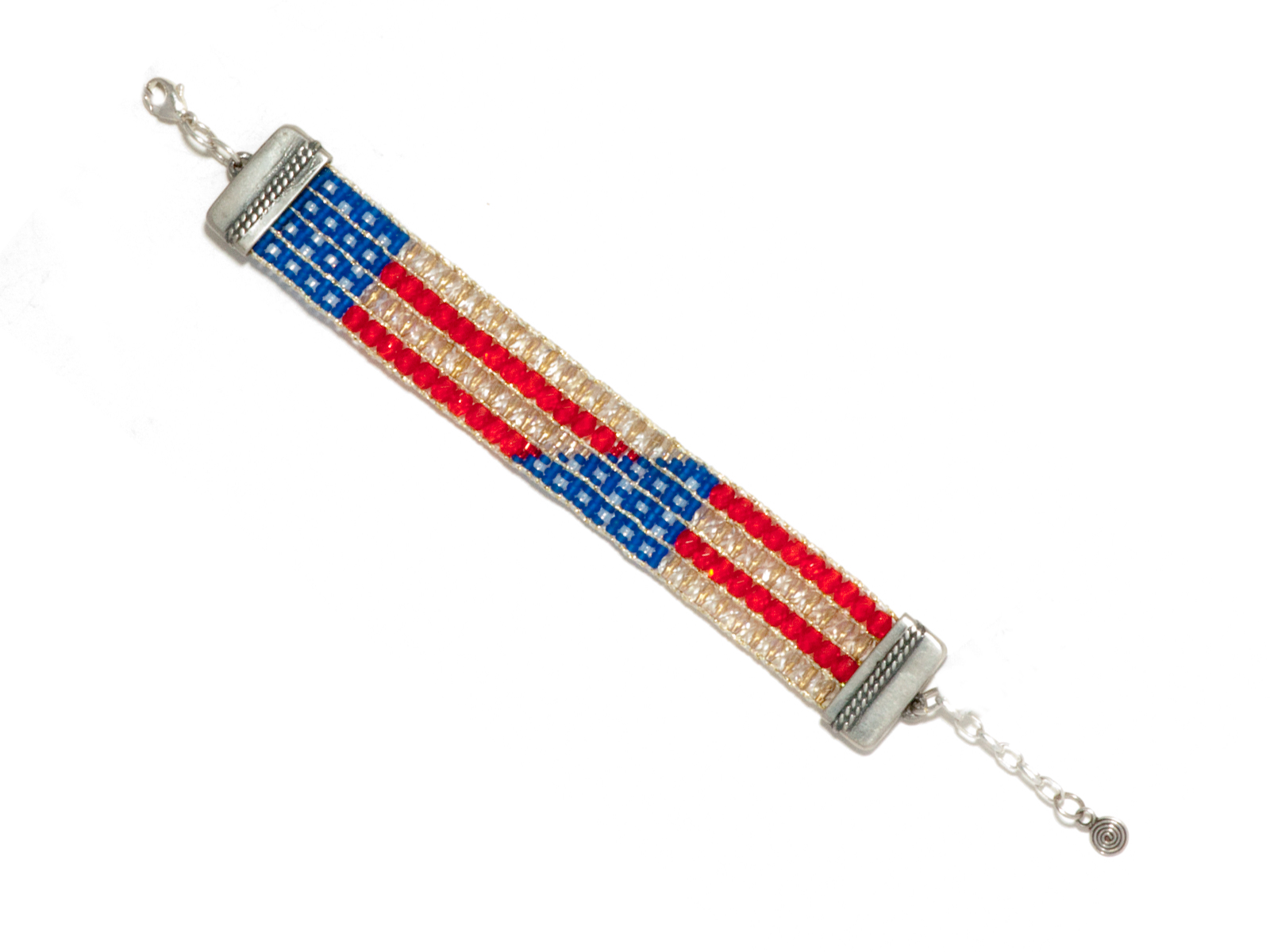 Stars and Stripes Beaded Bracelet