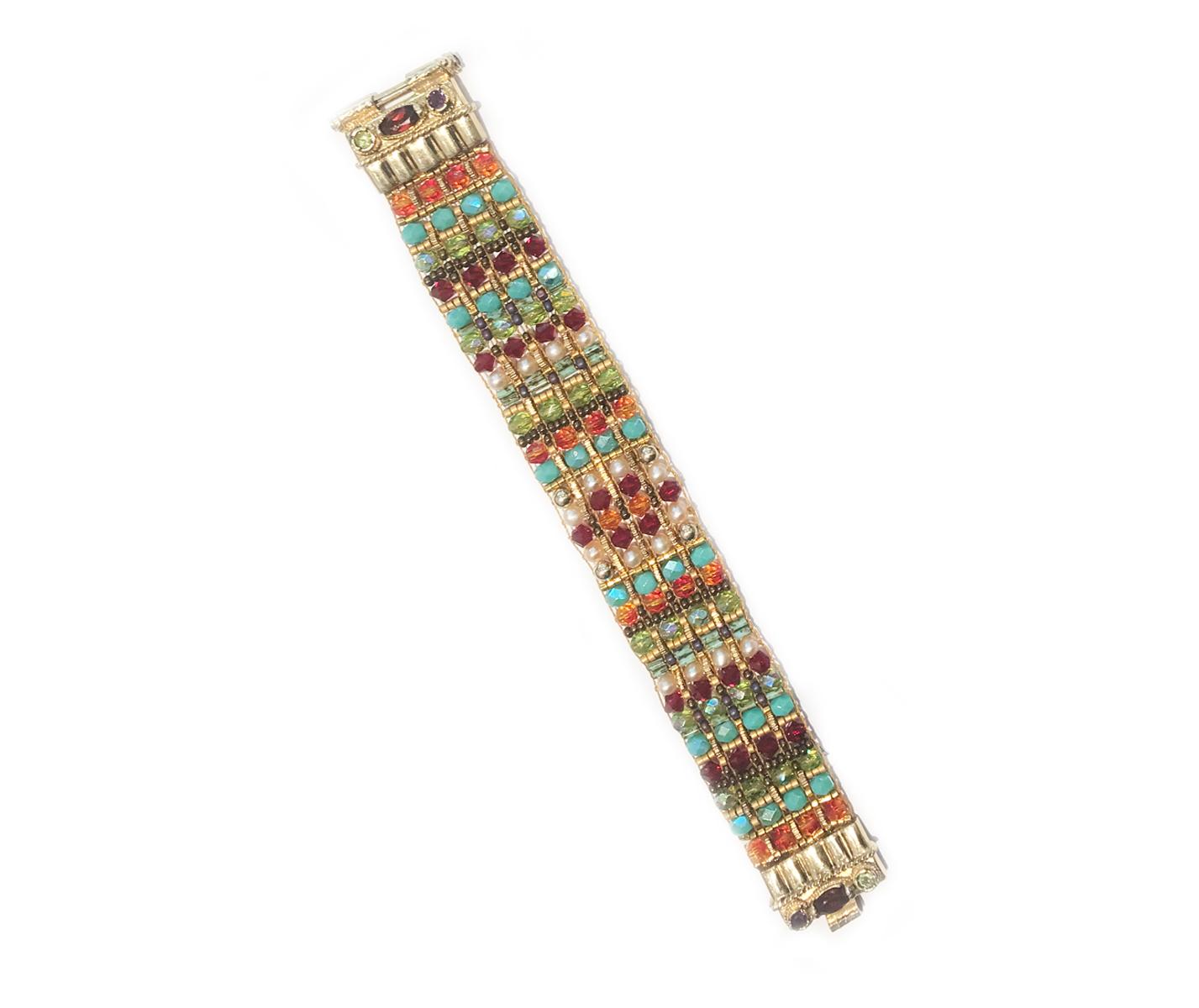 14k Gold Garnet Beaded Bracelet