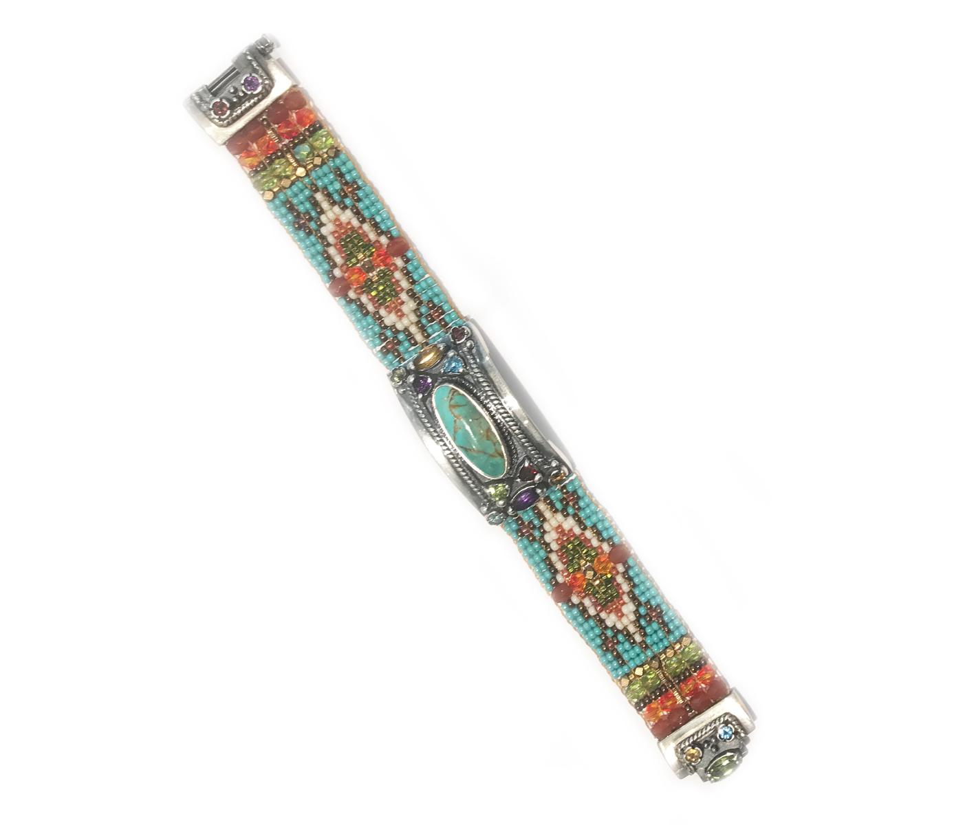 Kingman Turquoise Cowgirl Beaded Bracelet