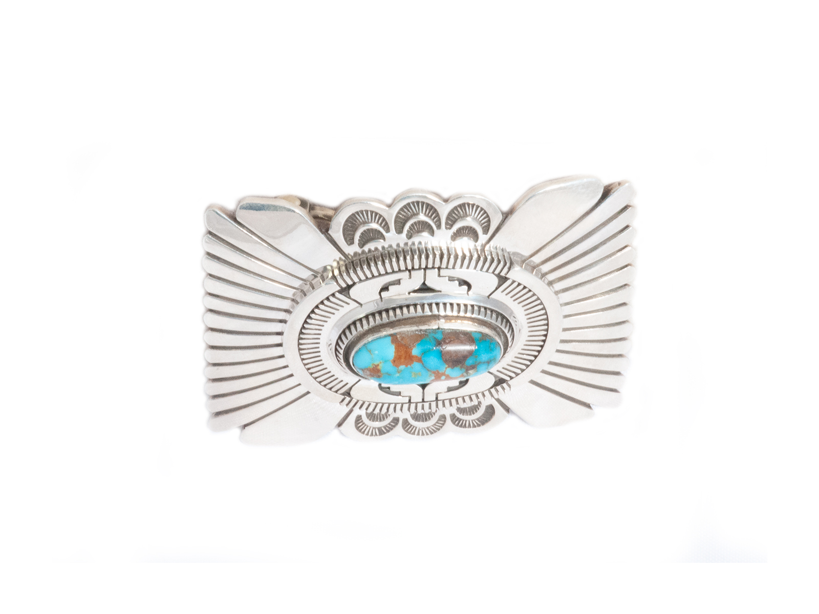 Candelaria Turquoise Silver Buckle