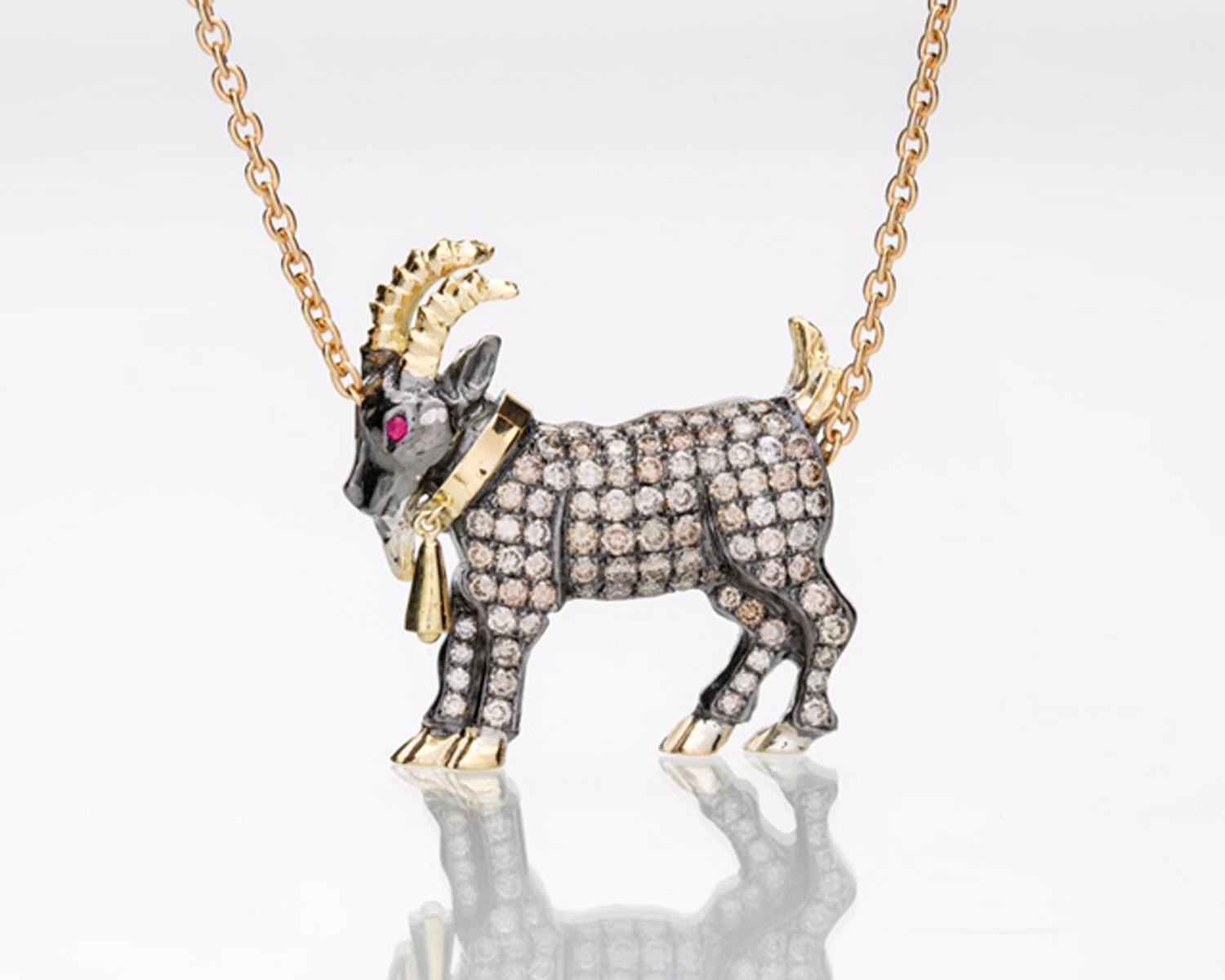 Billy Goat Diamond Necklace