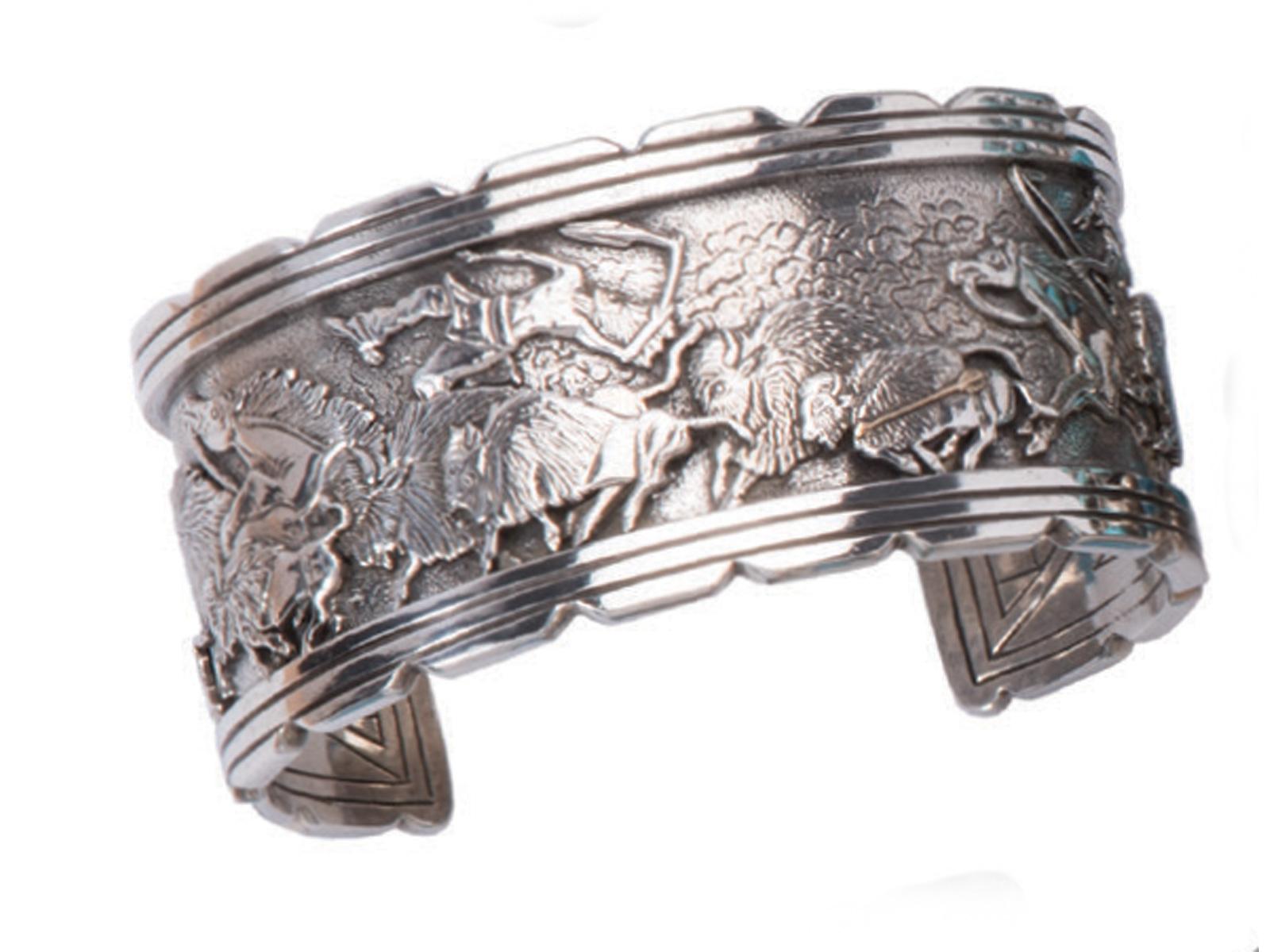 Bison Silver Cuff