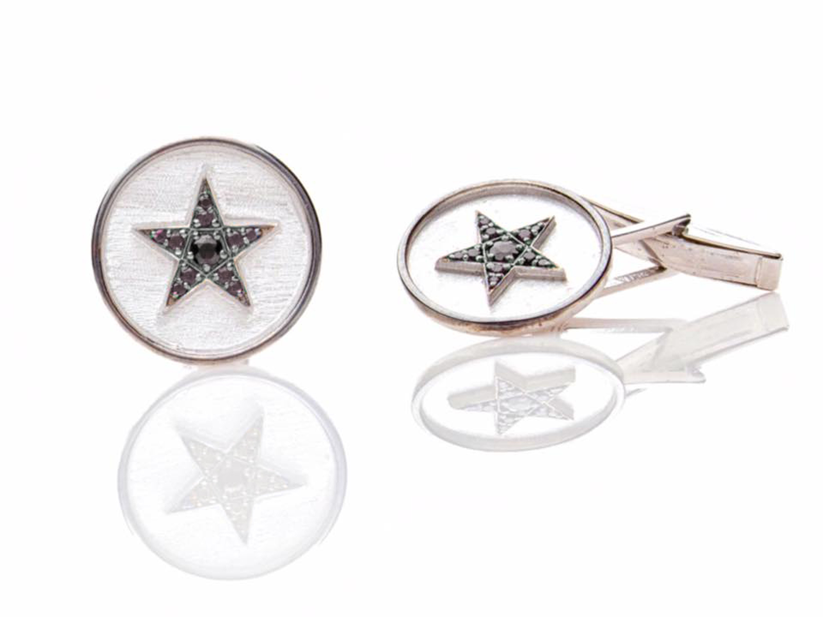 Black Diamond Star Cufflinks