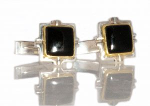 Black Jade Cuff Links