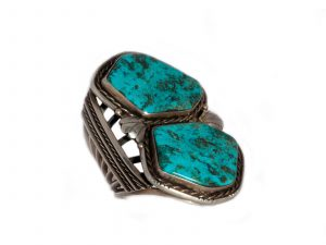 Vintage Turquoise Two Stone Cuff