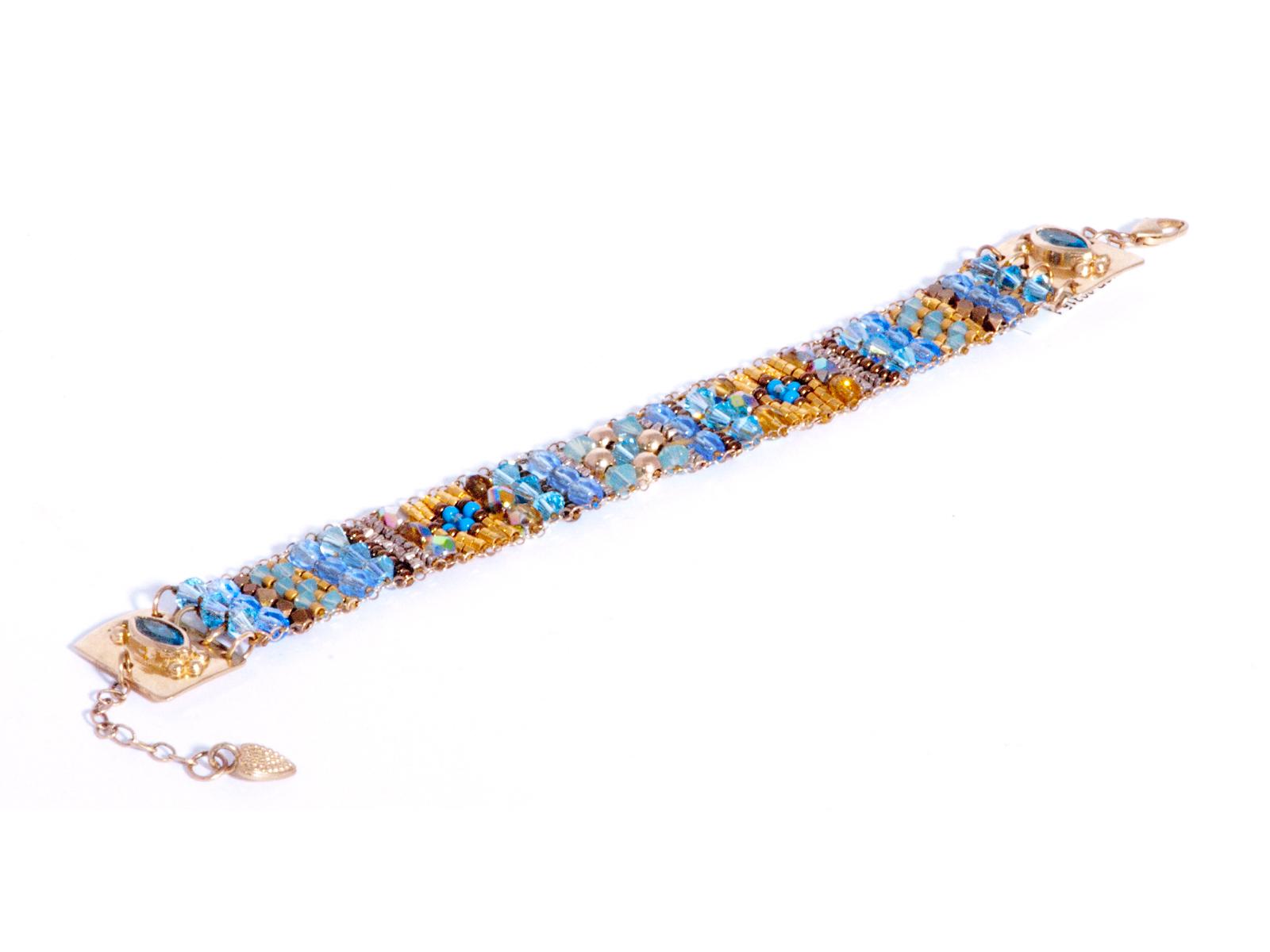 Blue Topaz Beaded Bracelet