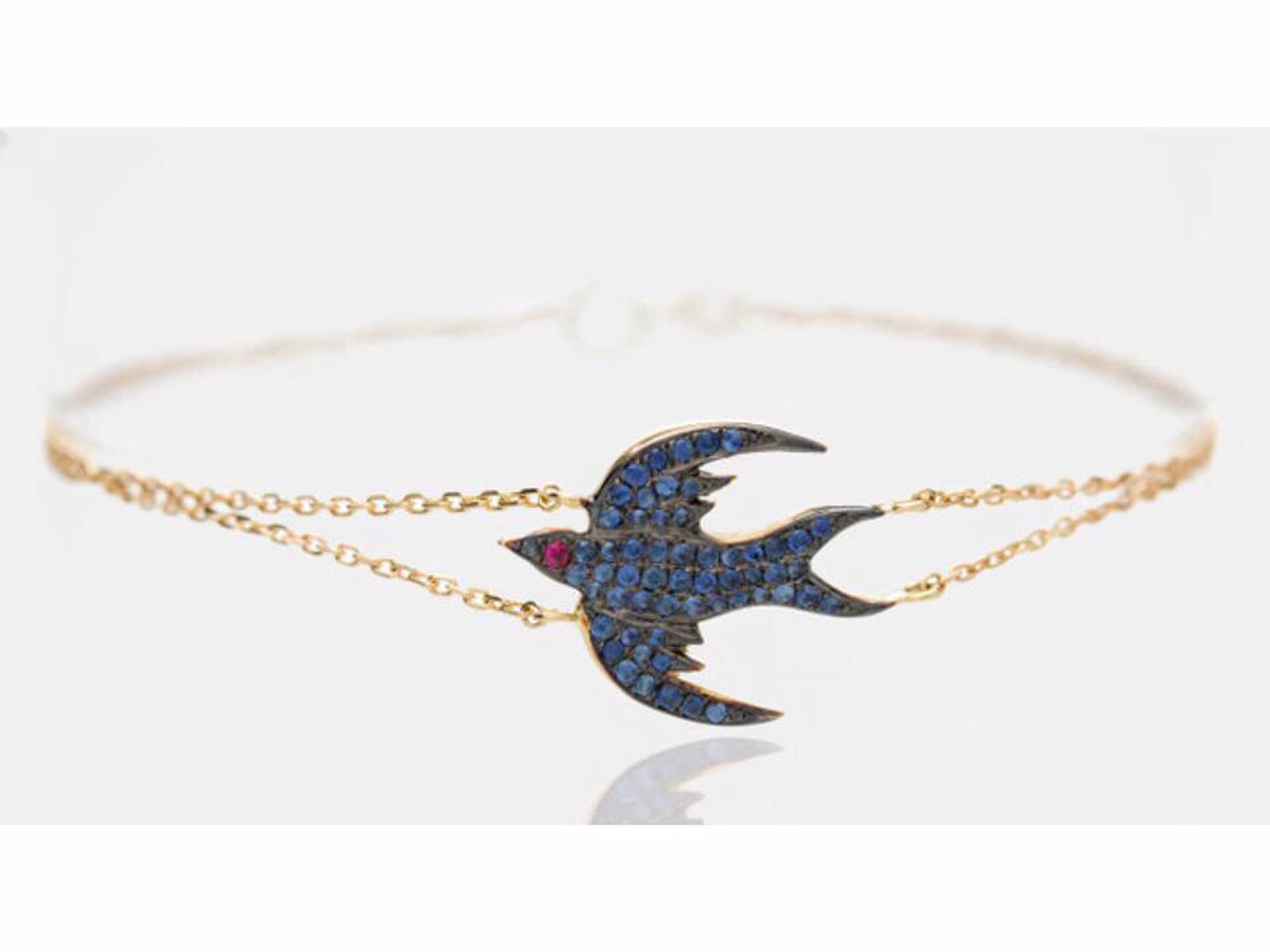 Blue Bird Bracelet