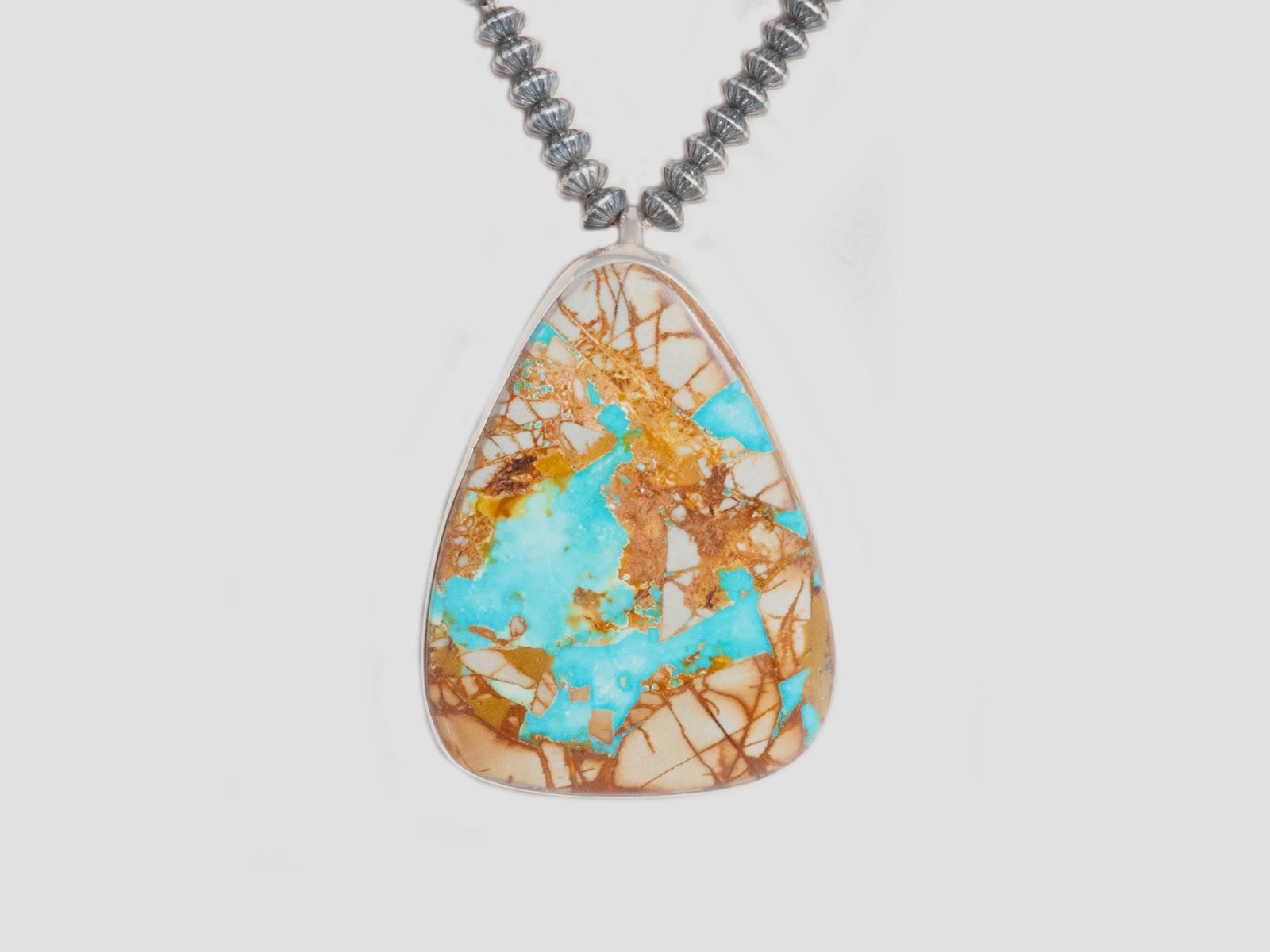 Silver Boulder Turquoise Pendant