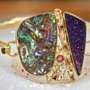 Boulder Opal Drusy Bracelet