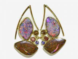Boulder Opal Post Earrings